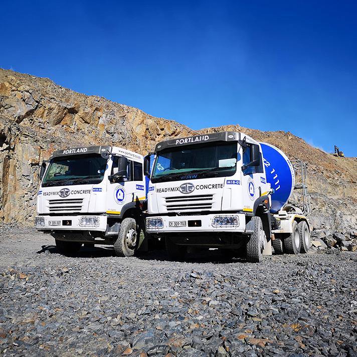 Portland cement mixing trucks